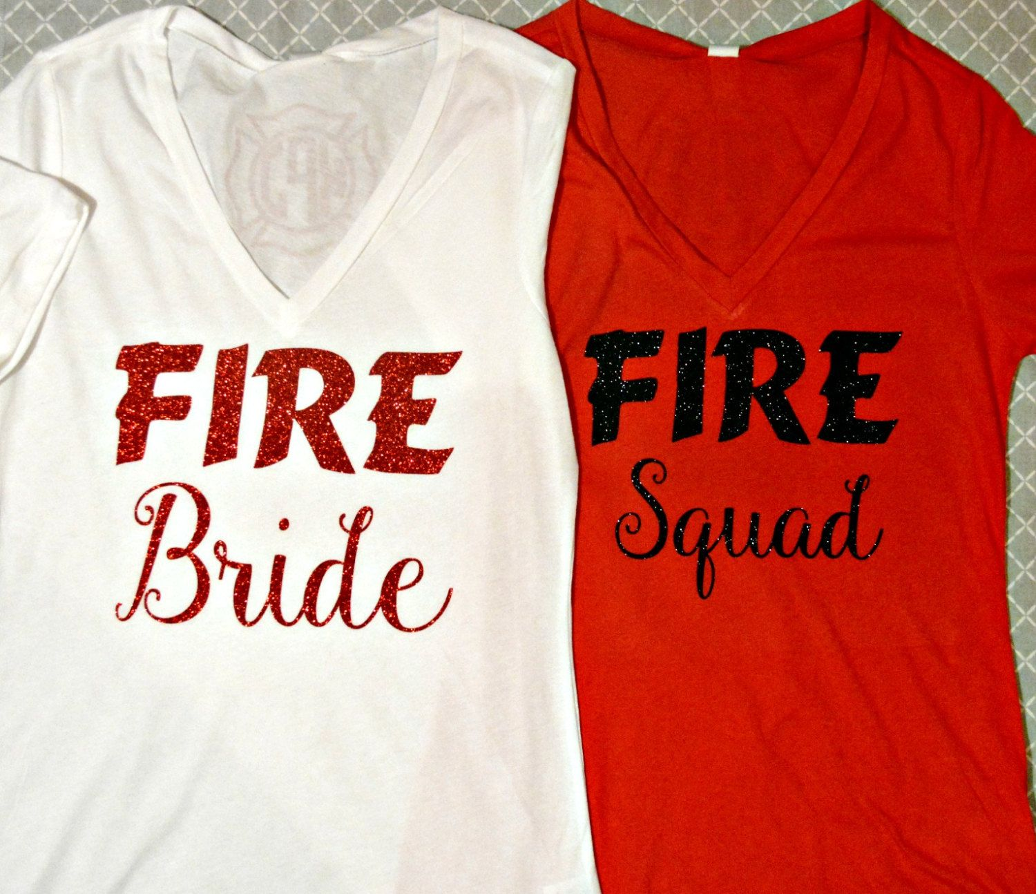 Firefighter Wedding Themes Ideas: Firefighter Bride To Be! Bridal Shirts By Sillylittlegirls