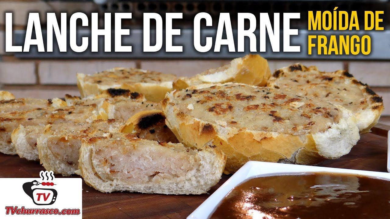 Como Fazer Lanche de Carne Moída de Frango - Tv Churrasco  3efa61334dc