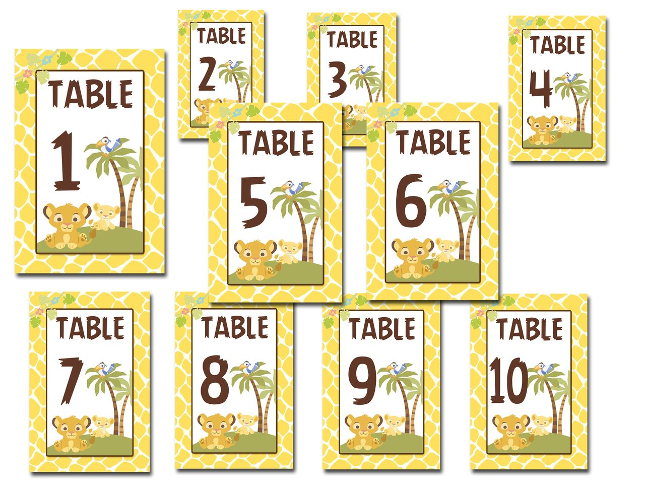 Baby Simba Baby Shower Food Table Numbers Nala