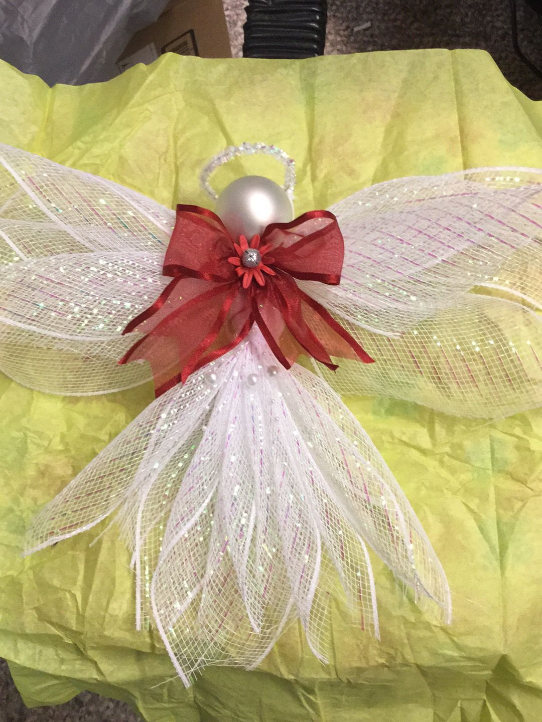 how to make a ribbon angel