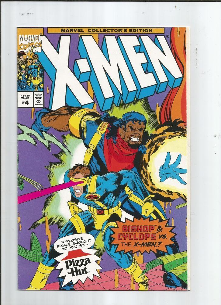 X Men Pizza Hut Special 4 Great Rare Story Featuring Bishop Nm X Men Pizza Hut Cyclops X Men