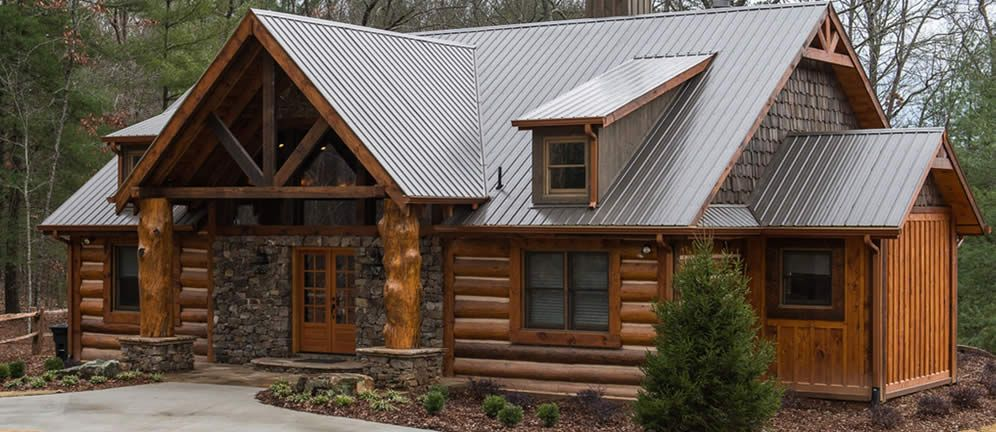 About Our Hybrid And Craftsman Style Log Homes Log Homes House Outside Design Log Home Designs