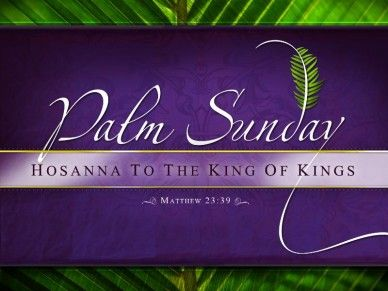 Graphic Palm Sunday Jesus Christ  Palm Sunday Powerpoint Template