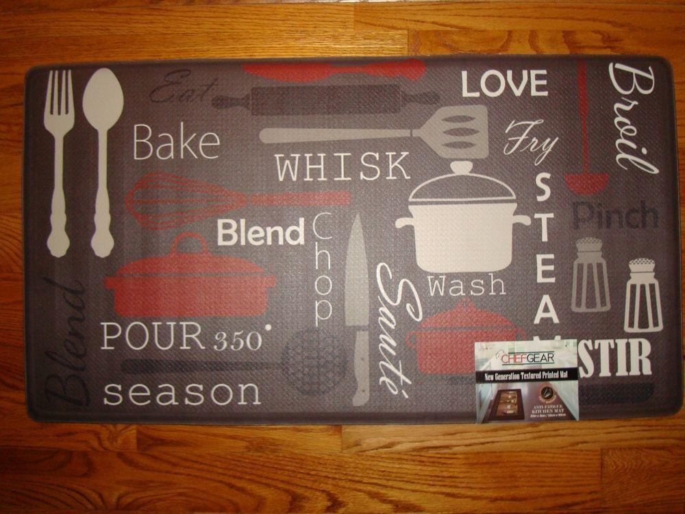 Delightful Anti+Fatigue+PVC+Foam+Chef+Kitchen+Floor+Mat+