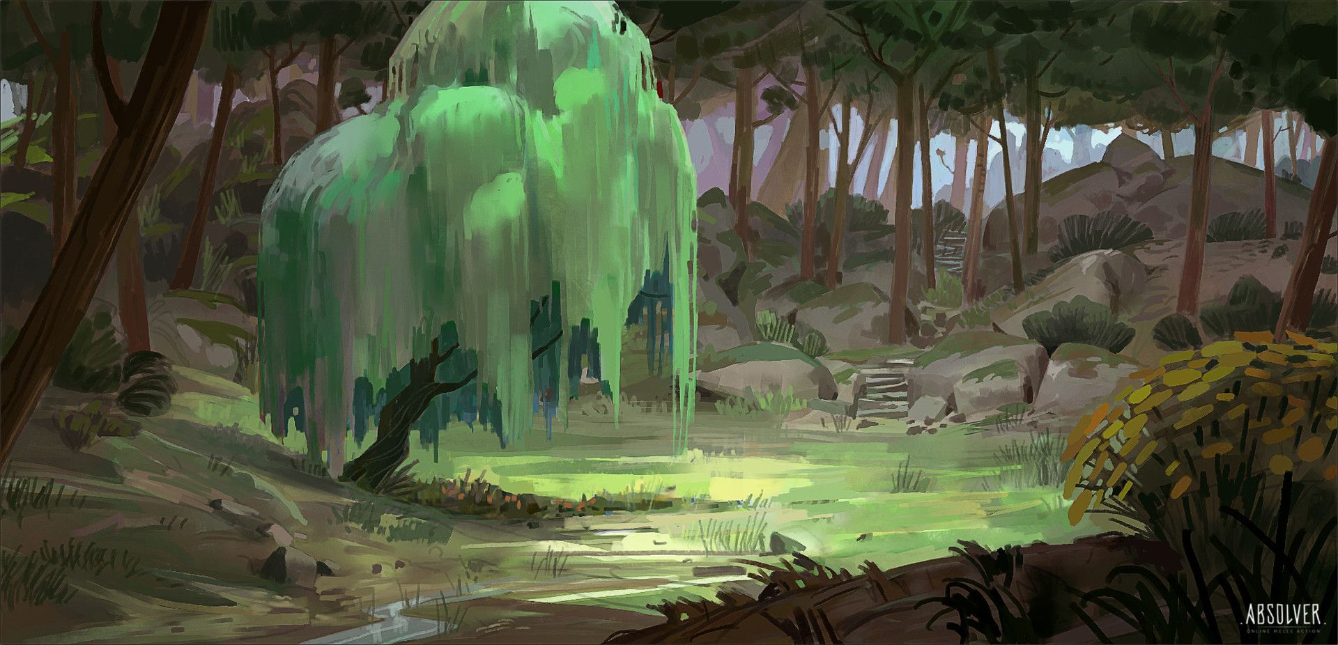 ArtStation - Absolver Forest environment sketches, Michel Donze ...