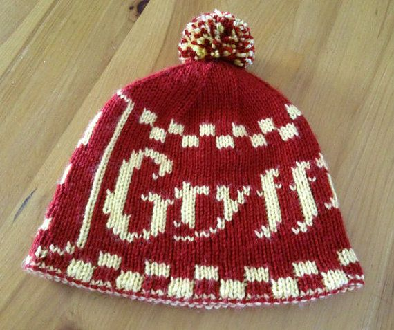 Harry Potter Gryffindor Beanie with Pompom Double by fromgeek2chic ... e1aa323e6c0f