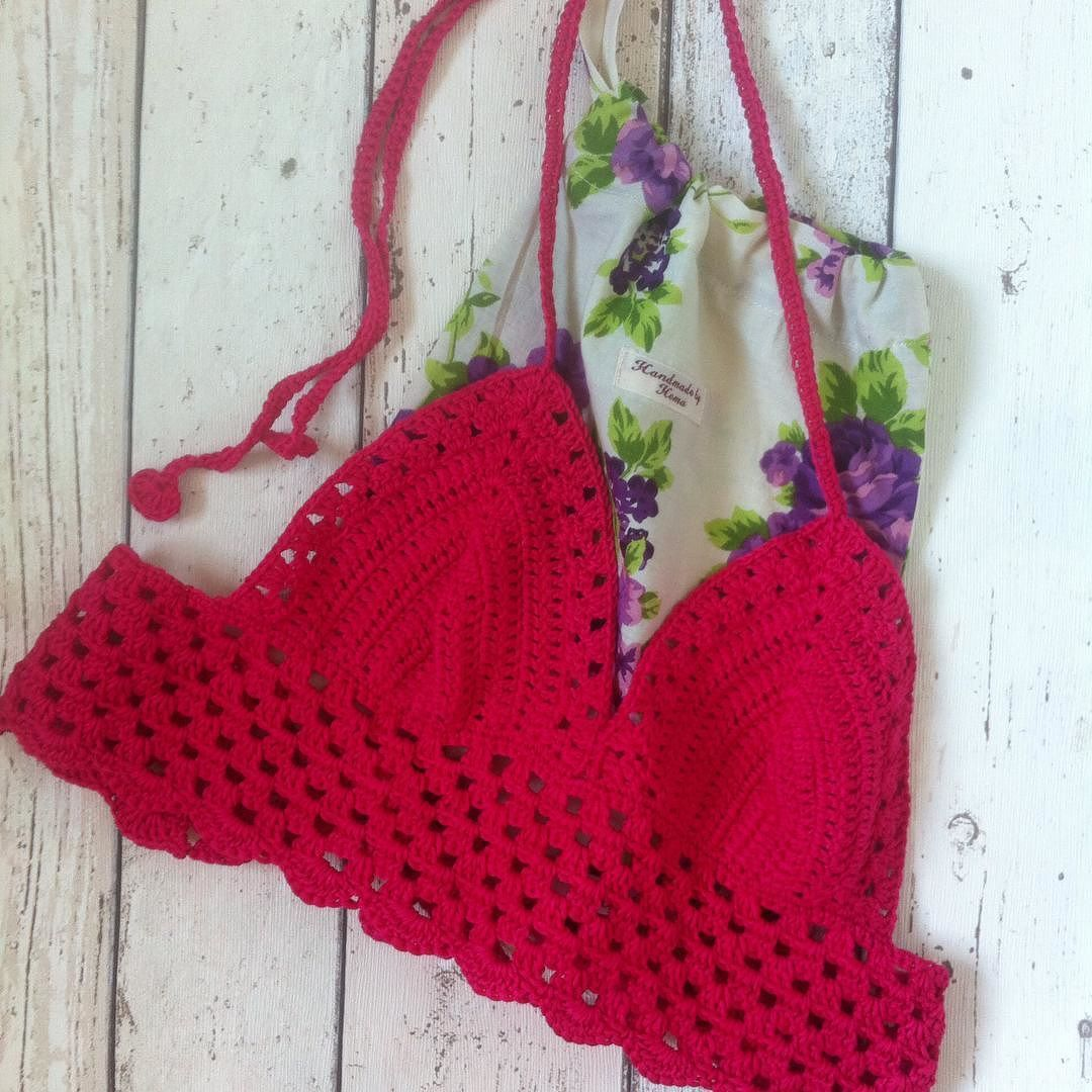 Summers here and this Crochet Festival Top with printed bag is now on the way to it's new owner... I hope they like it.  by handmade.by.hema