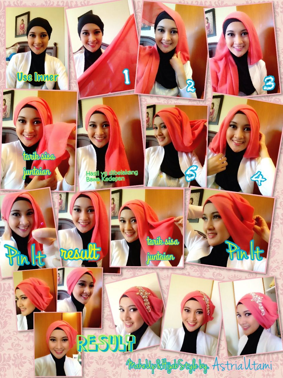 Party In Pink Hijab Tutorial Pinterest Pink And Parties
