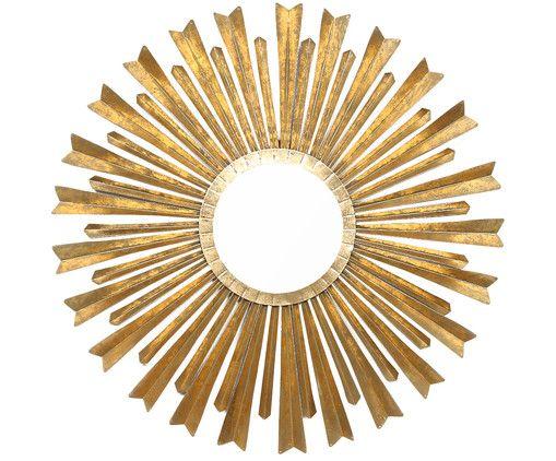 Luxury Interior Must have der Sunburstmirror in Gold Die gl nzenden Strahlen des Sonnenspiegels bringen
