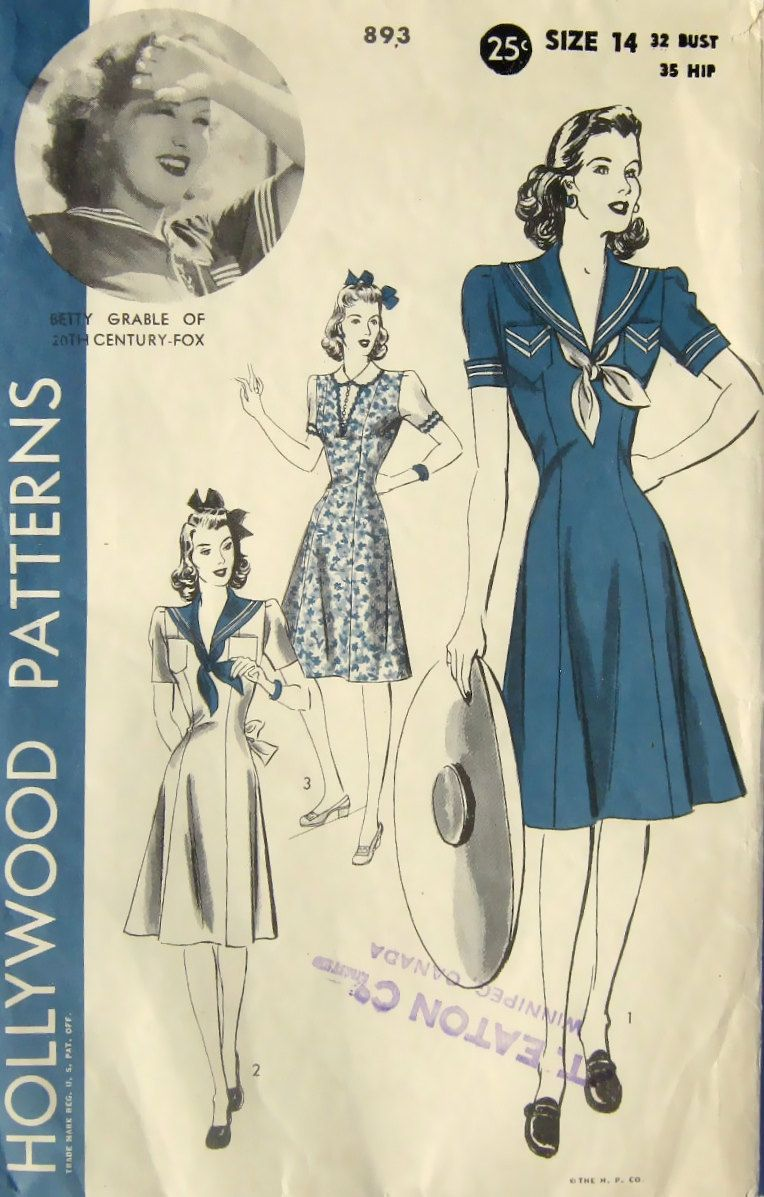 cant beat a sailor styles dress for real 40s pin up style ...