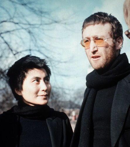 Yoko Ono and John Lennon, February 1970.