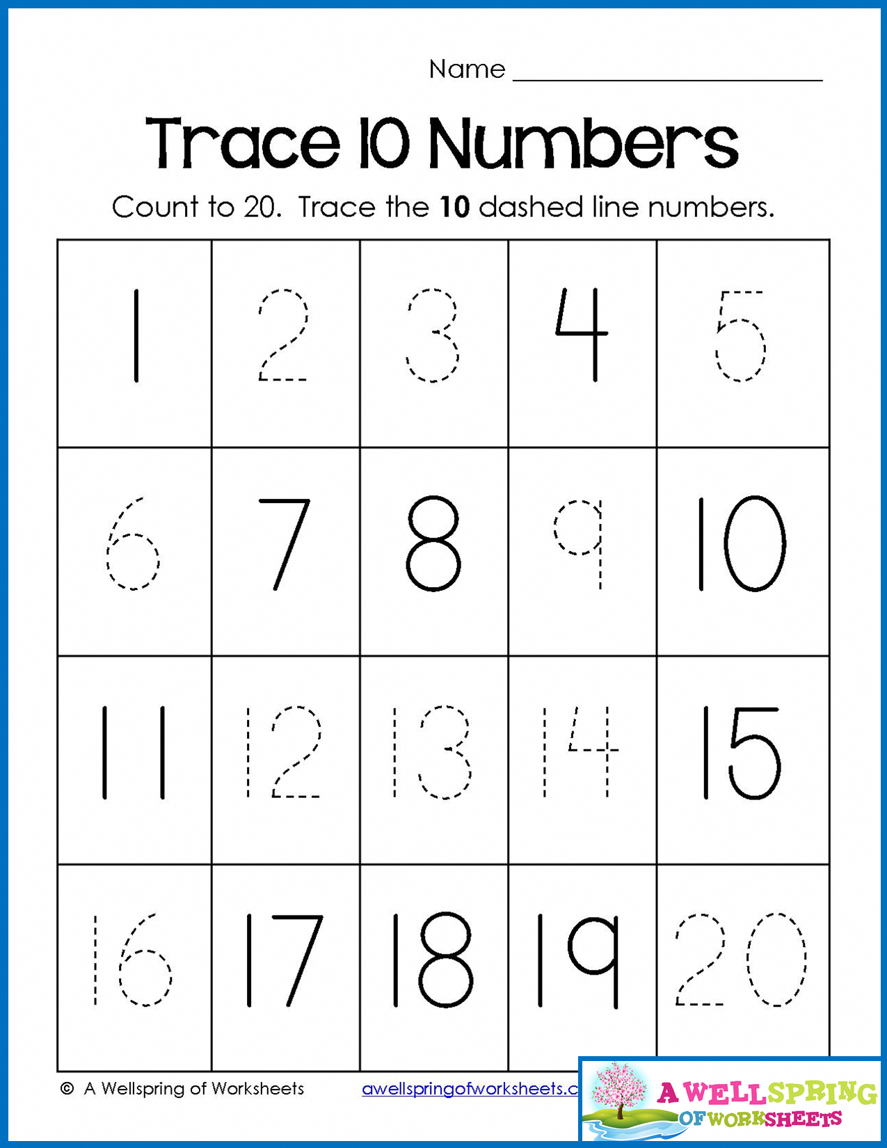 Trace, Write And Fill In Numbers 1-20 30 Worksheets & 3 ...