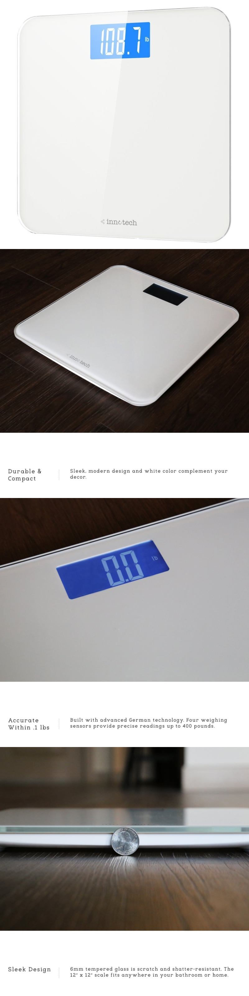 Scales Innotech Digital Bathroom Scale With Easy To Read Backlit Lcd