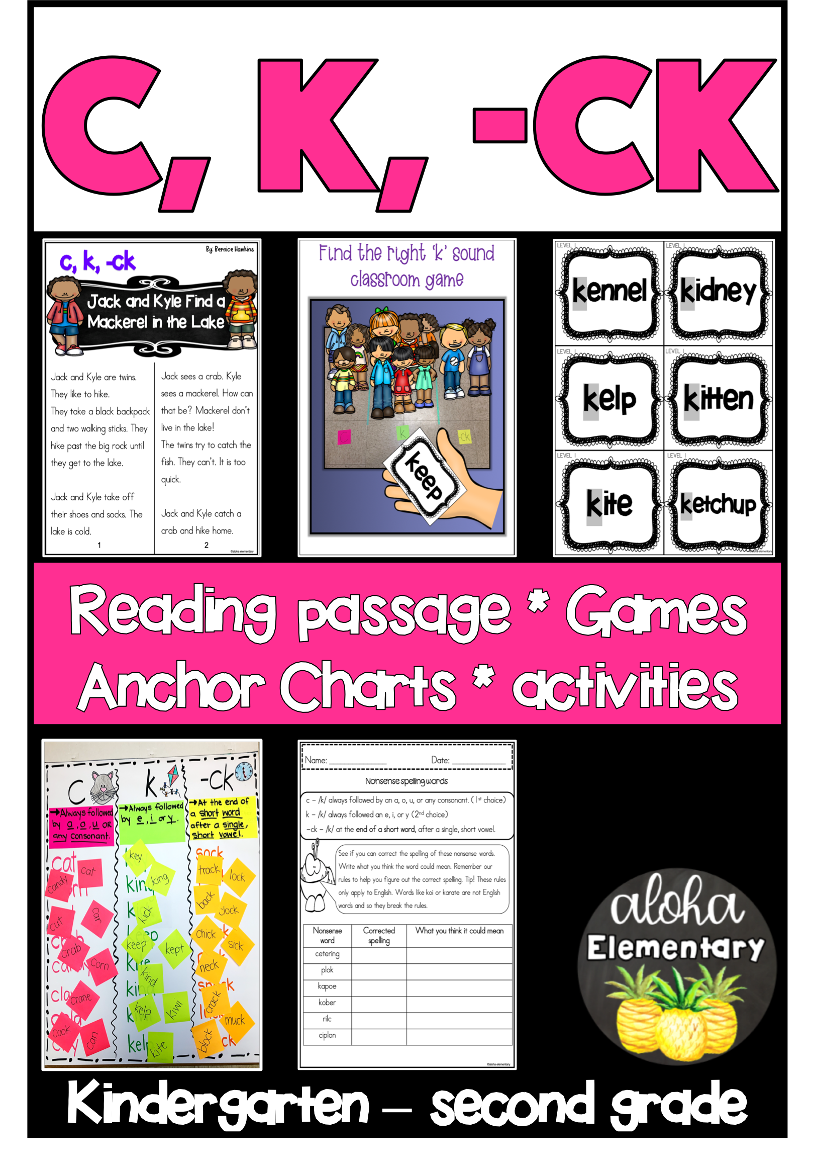 C K And Ck Mini Reader And Activity Packets