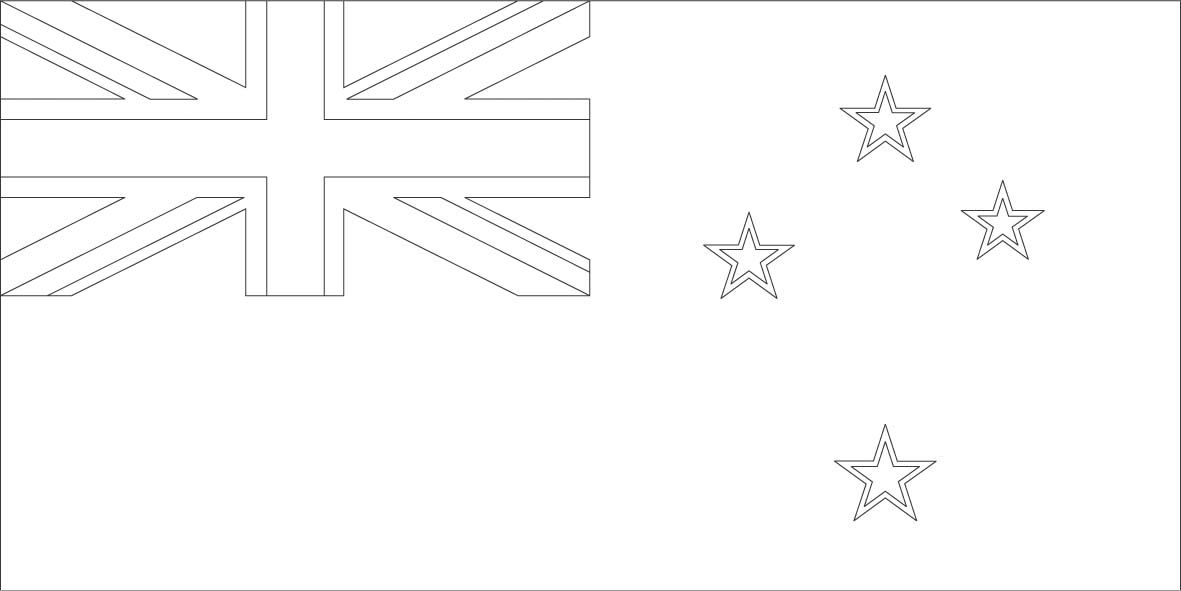 New Zealand Flag Coloring Page Sonlight Core C Window On The