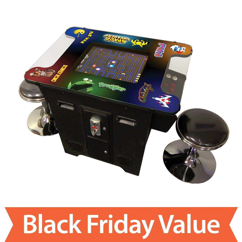Retro Arcade Game Table With 60 Classic Games Sam S Club Cocktail Arcade Machine Retro Arcade Games Arcade