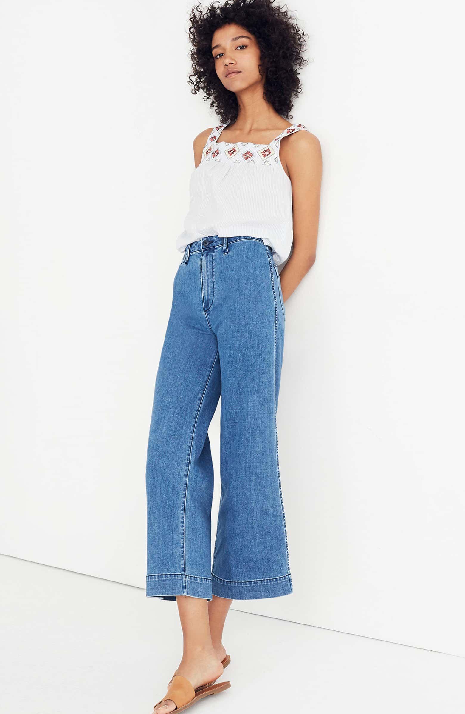 9eacf971cb8 Emmett Crop Wide Leg Jeans