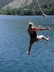 10. Favorite summer activity: Rope Swings into the water  (Wish I could still do this!)