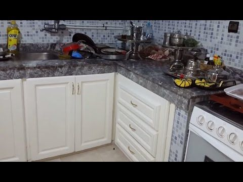 تعالو تشوفو حالة مطبخي بعد مغادرة الضيوف حالتو حالة وكيف نظفتو بكل سهولة Kitchen Cabinets Kitchen Home Decor