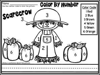 Free Fall Scarecrow part of my Color By Number November