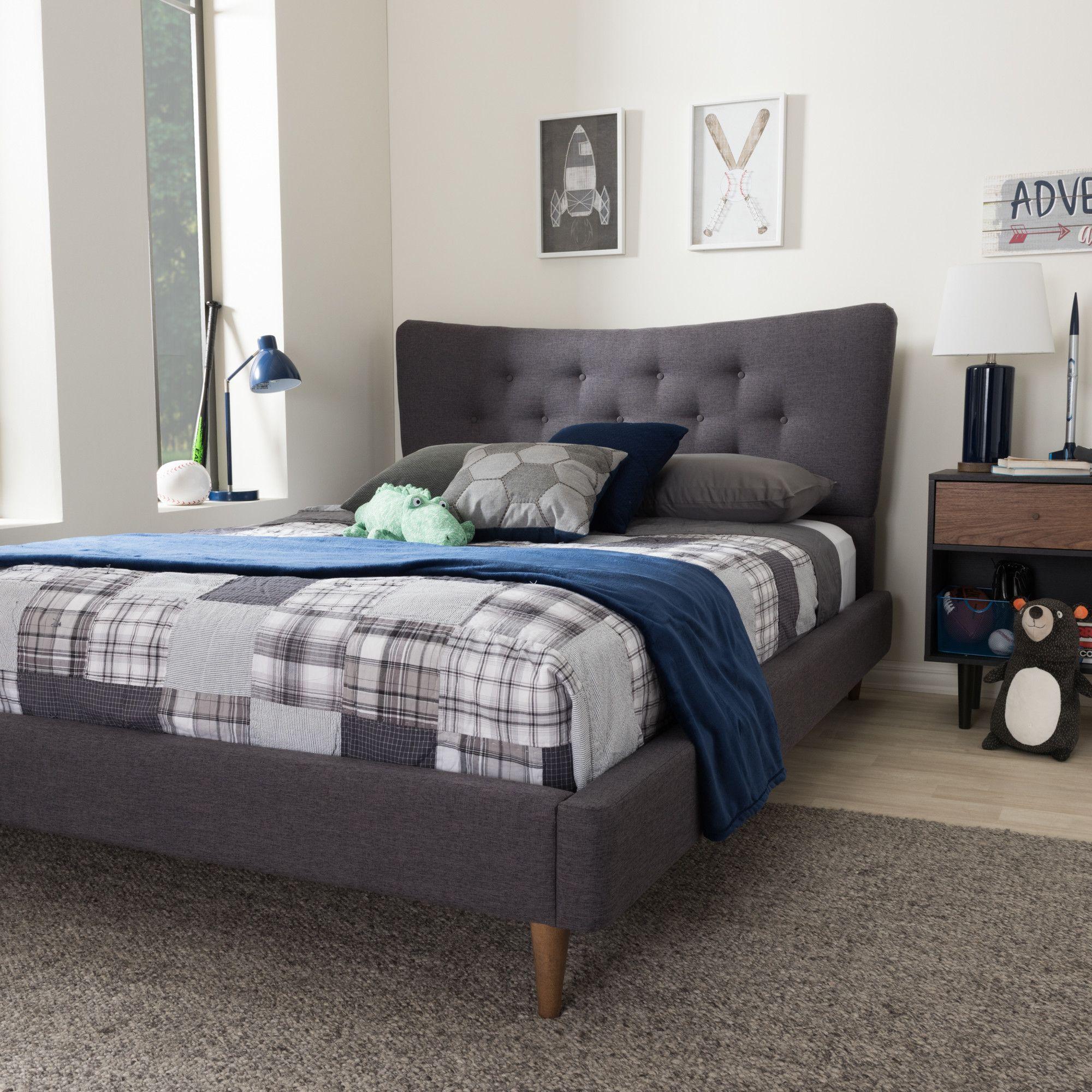 Best Eben Upholstered Platform Bed Upholstered Platform Bed 640 x 480