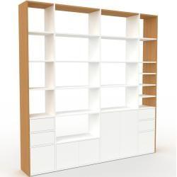 Photo of Regalsystem Weiß – Regalsystem: Schubladen in Weiß & Türen in Weiß – Hochwertige Materialien – 229 x
