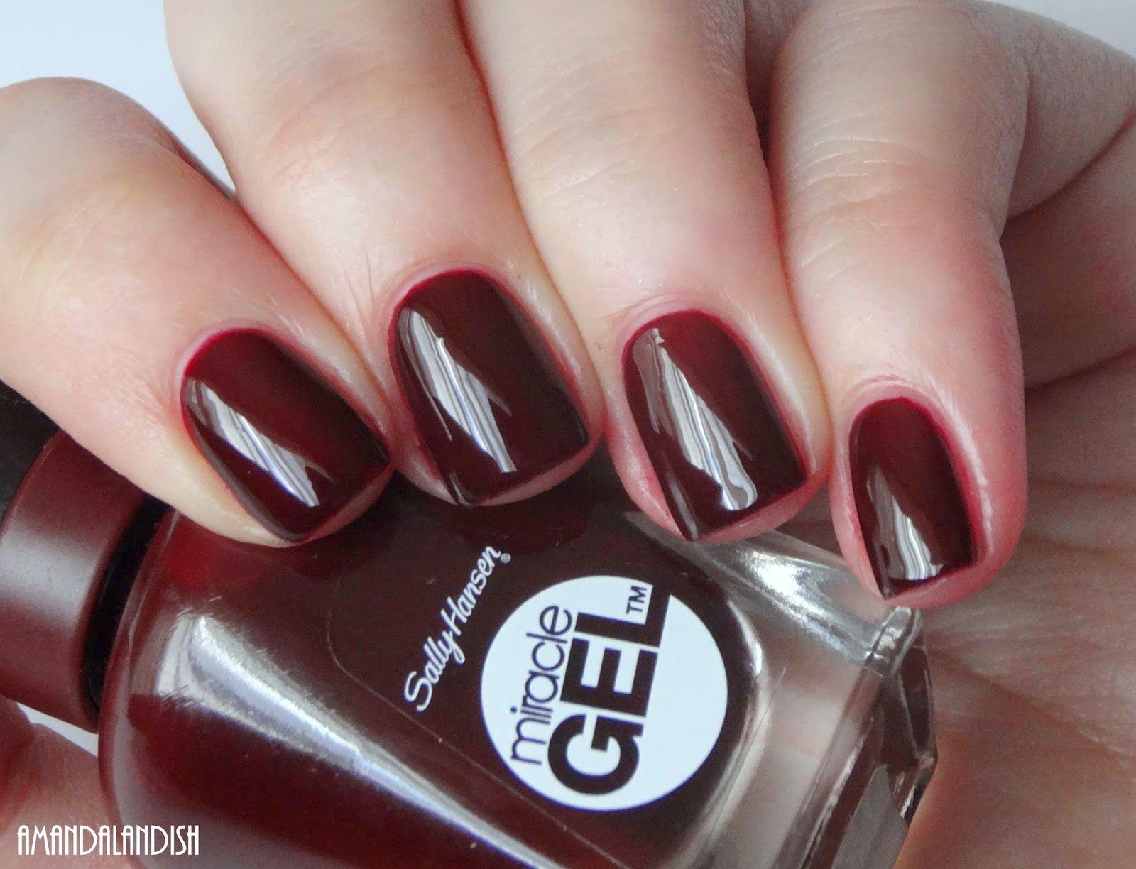 sallyhansen Wine Stock | Amandalandish | My Gel Nail Polish\'s ...