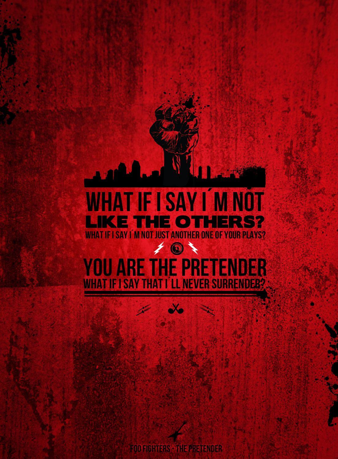 the pretender, foo fighters Foo fighters songs, Foo