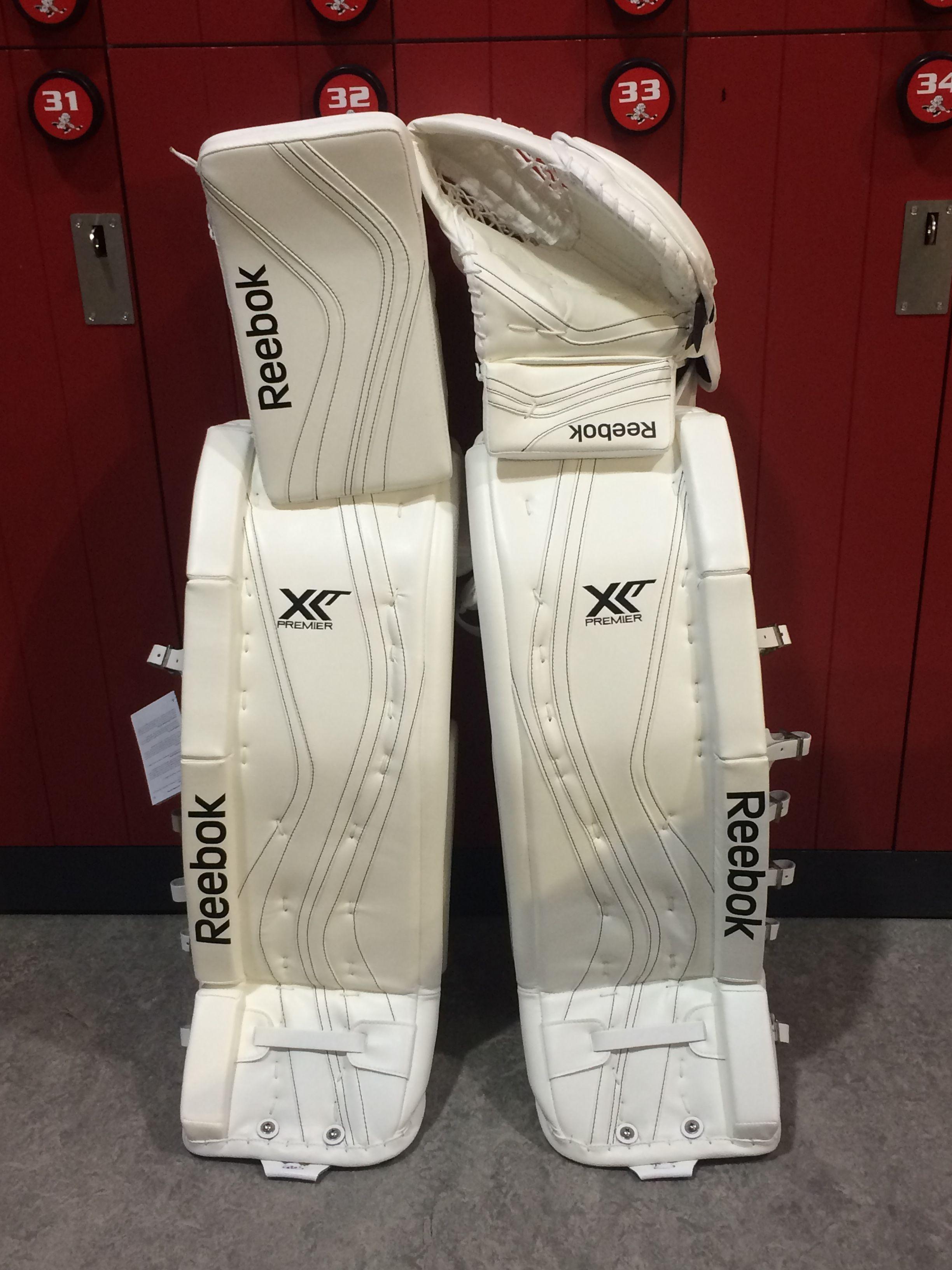 Reebok Premier XLT Pro custom goalie pads and gloves made for a