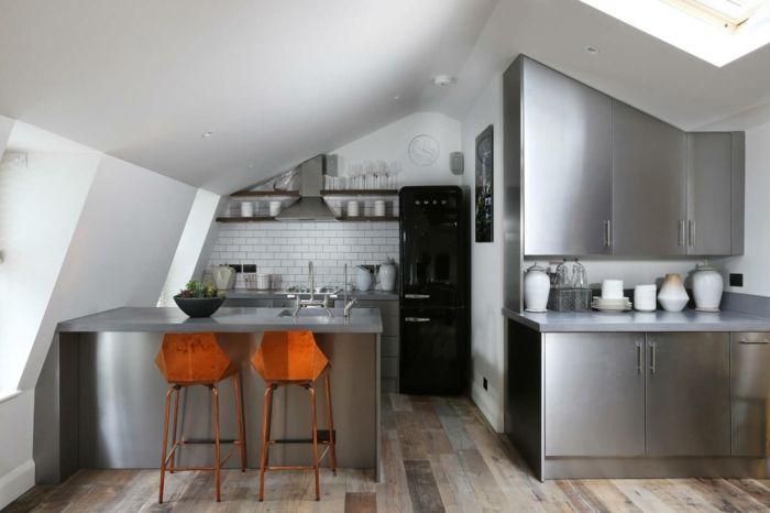 Küche Dachschräge - 50 Ideen für ein auffälliges Küchendesign