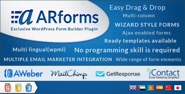ARForms: Wordpress Form Builder Plugin | Wordpress | Form builder
