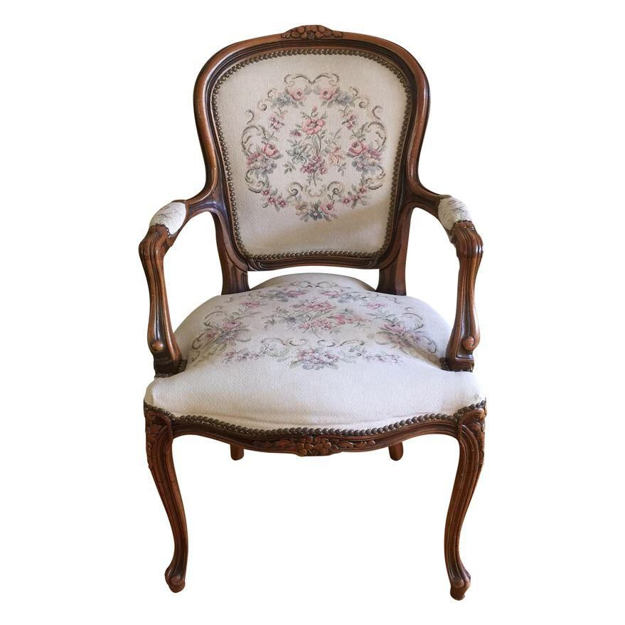 Vintage French Provincial Louis XVI Armchair on Chairish.com