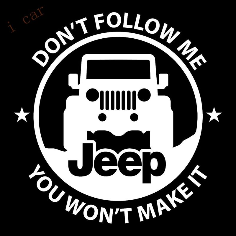 Don follow me vinyl sticker decal off road cj yj willy wrangler renegade