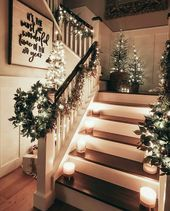 Christmas  the most wonderful time of the year Decorated banisters and stairs  Christmas  the most wonderful time of the year Decorated banisters and stairs