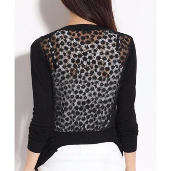 lace back cardigan never wore. Lace Back Meshed People Small ...