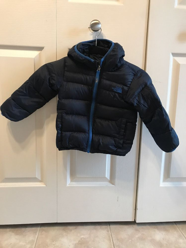 ac56e8829faf North Face Toddler Boys Jacket Hood Reversible Navy Blue Reverse ...