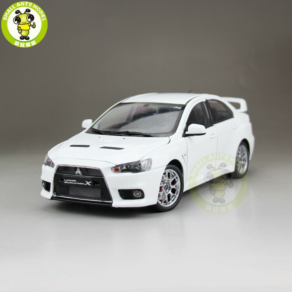 Ebay Sponsored 1 18 Mitsubishi Lancer Evo X 10 Lhd Diecast Car Model Toy Kids Boy Gifts White Toy Cars For Sale Diecast Toy Diecast Cars