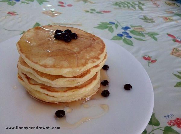 Buttermilk Fluffy Pancake Resep Masakan Kue Dadar Resep Makanan