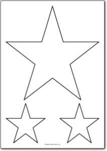 5 Pointed star shape | Free Printables, free printable shape