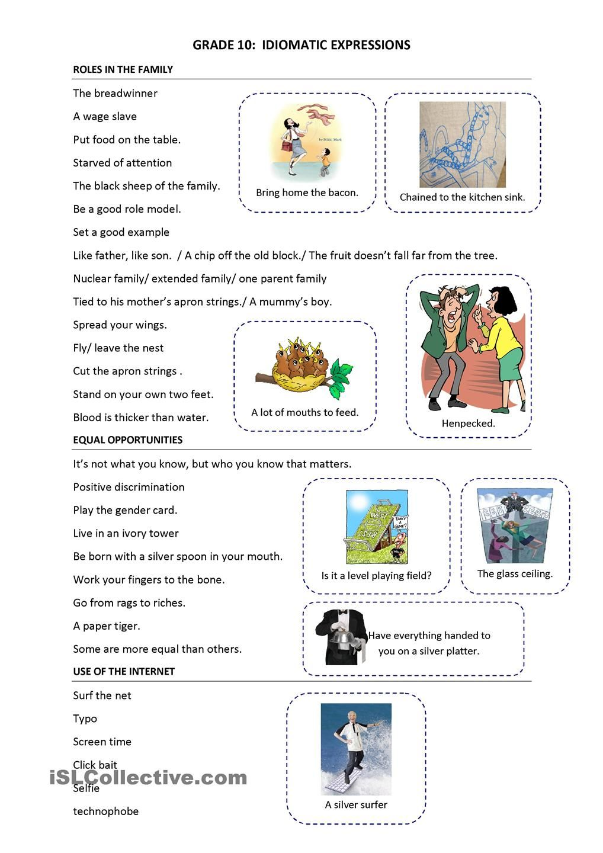 small resolution of Trinity GESE Grade 10: Idioms   Idioms