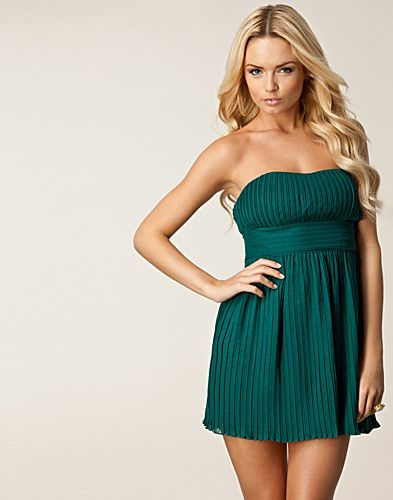 Alva Dress - Dry Lake - Green - Party dresses - Clothing - NELLY.COM ...