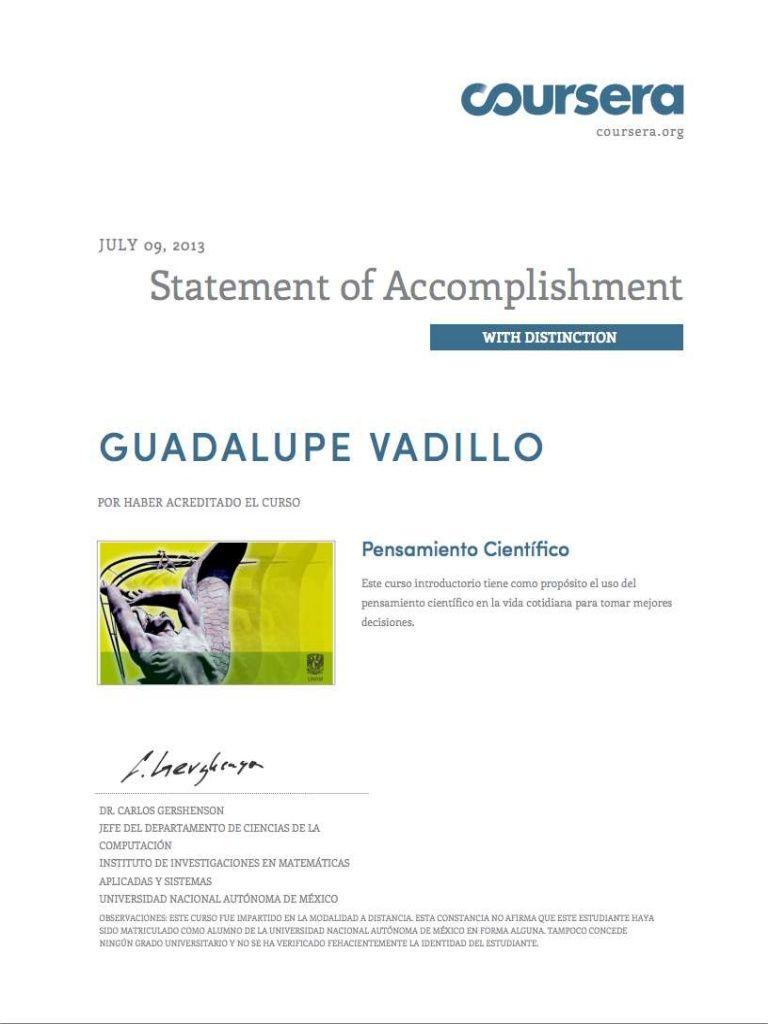 constancia-coursera by UNAM via Slideshare Free course/Curso Gratis por la UNAM