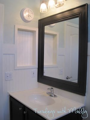 Bathroom Mirror Makeover Pinterest tuesdays with molly: the great frame up! | bathroom | pinterest
