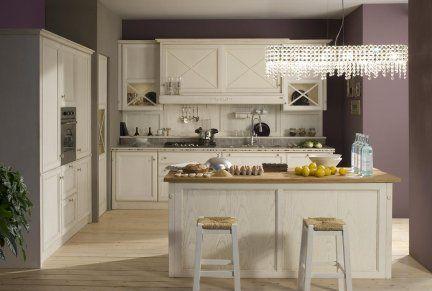 Cucina Carlini modello Matilda castagno massello con dispensa ...