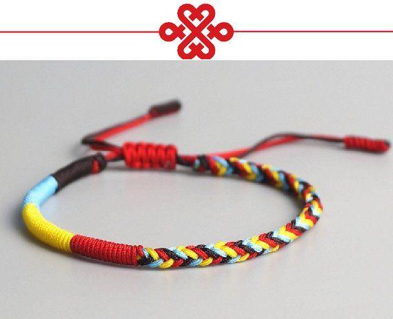8790db7c73ac2 Original Tibetan Buddhist Tibetan Lucky Knot Bracelet Handmade Knots ...