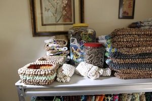 Local woman turns plastic bags into treasures with #crochet