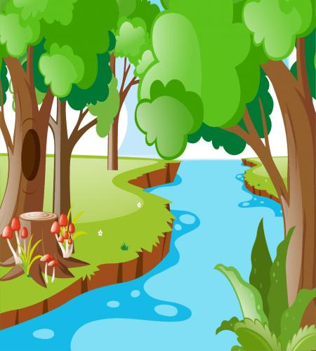تصميم رسم اشجار حول نهر صغير ملف مفتوح اكثر من مميز Background Design Graphic Design Logo Nature Backgrounds