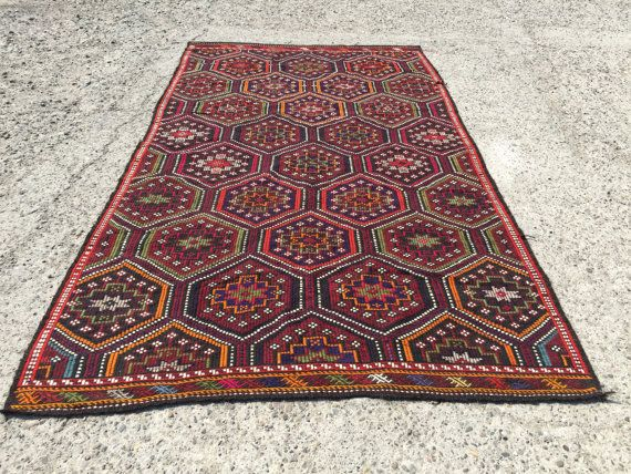 area rug 10x8 hexagon design turkish kilim rug vintage handwoven teppich area rug