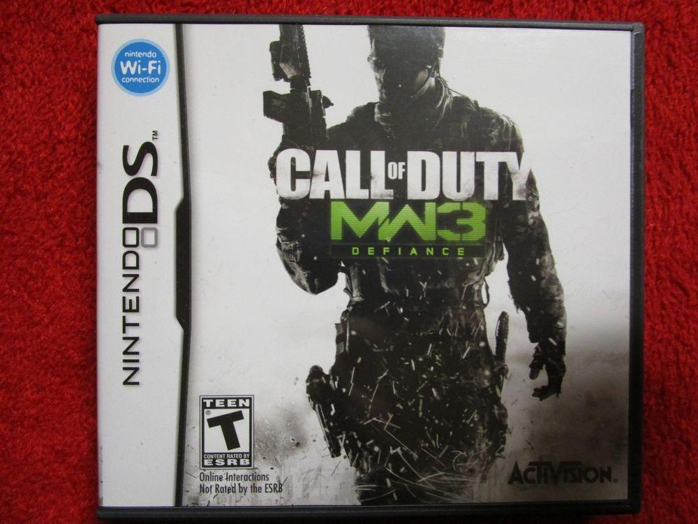 Call Of Duty Modern Warfare 3 Defiance Nintendo Ds Dsi 2ds 3ds