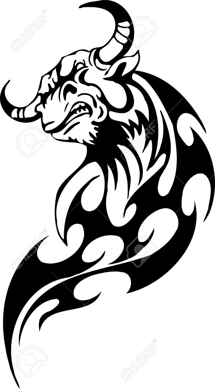 Pics photos taurus tattoos bull tattoo art - Fire Bull Tattoo Google Search